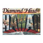 Cabeza del diamante, Hawaii - escenas grandes de l Impresion En Lona