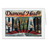 Cabeza del diamante, Hawaii - escenas grandes de l Tarjeta De Felicitación