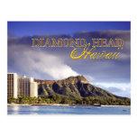 Cabeza del diamante, Honolulu, Hawaii Postales