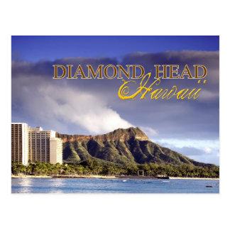 Cabeza del diamante, Honolulu, Hawaii Tarjeta Postal