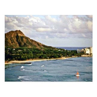Cabeza del diamante - playa de Waikiki Oahu Postales