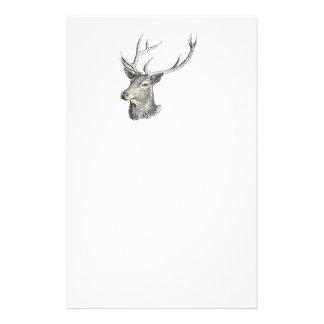 Cabeza del dólar de los ciervos con el dibujo de papelería de diseño