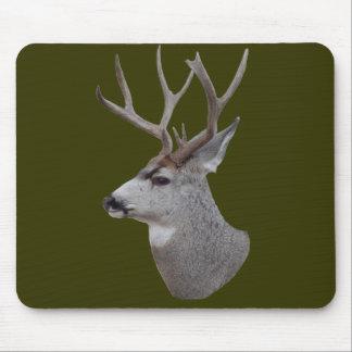 Cabeza del dólar del ciervo mula D0027 Alfombrillas De Raton