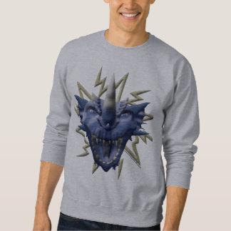 Cabeza del dragón - azul sudaderas