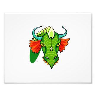 Cabeza del dragón con horns png arte fotografico