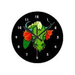 Cabeza del dragón con horns.png reloj de pared