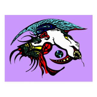 Cabeza del dragón postales