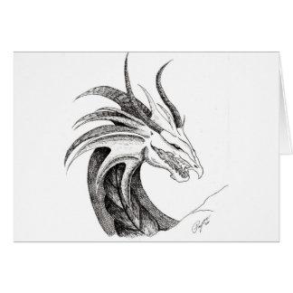 Cabeza del dragón tarjeta pequeña