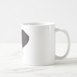 Cabeza del elefante del dibujo animado taza de café