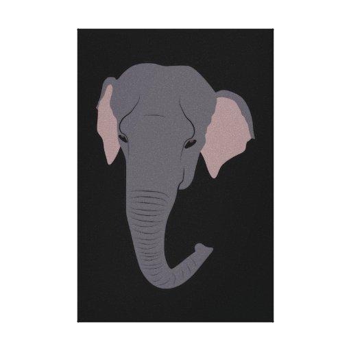 Cabeza del elefante impresion de lienzo