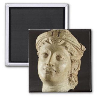 Cabeza del estuco, Gandhara, ANUNCIO del siglo IV Iman Para Frigorífico