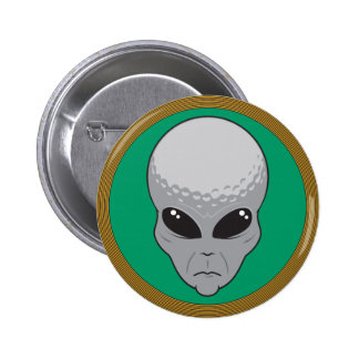 cabeza del extranjero del golf pin