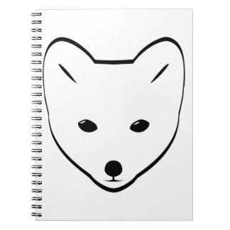 Cabeza del Fox ártico Libreta Espiral
