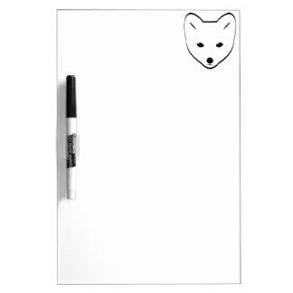Cabeza del Fox ártico Tableros Blancos