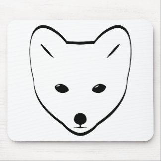 Cabeza del Fox ártico Alfombrilla De Ratones