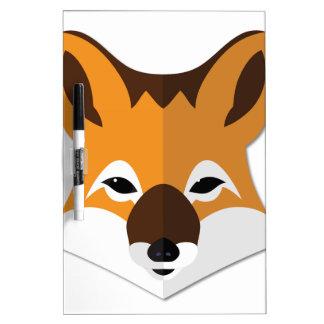 Cabeza del Fox del dibujo animado Tablero Blanco