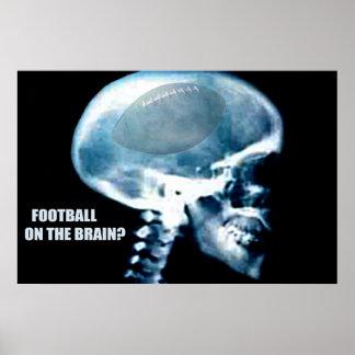 Cabeza del fútbol (radiografía) póster