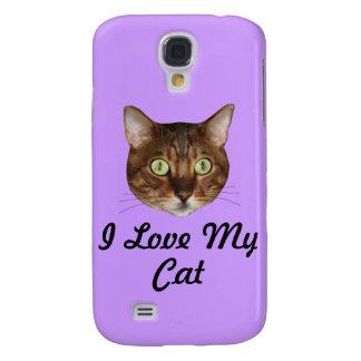 Cabeza del gato de Bengala Funda Para Galaxy S4
