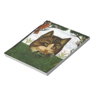 Cabeza del gato del vintage (gato de Cheshire) Libreta Para Notas