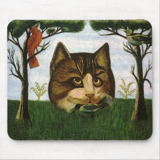 Cabeza del gato del vintage gato de Cheshire Tapete De Ratón