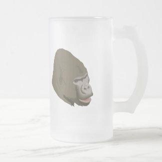 Cabeza del gorila taza de cristal