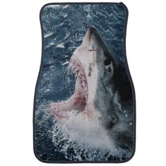 Cabeza del gran tiburón blanco alfombrilla de coche