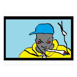 Cabeza del hip-hop tarjetas postales