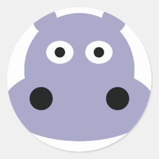 cabeza del hipopótamo pegatinas