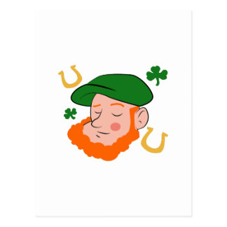Cabeza del irlandés postal