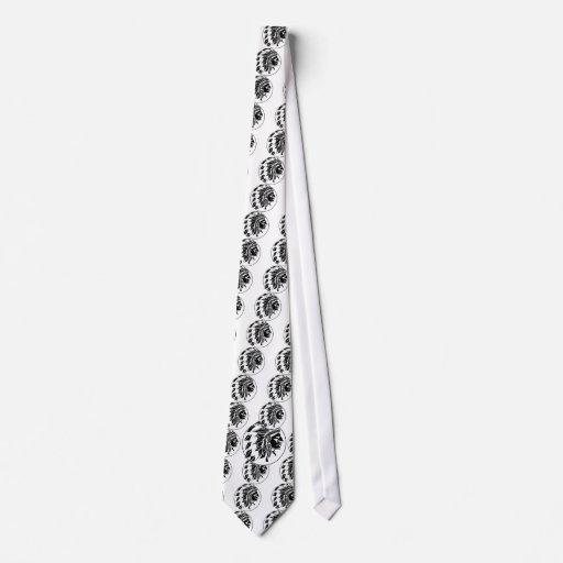 Cabeza del jefe indio corbata personalizada