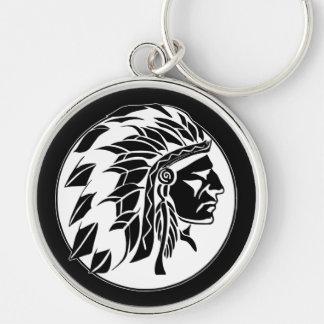 Cabeza del jefe indio llavero personalizado