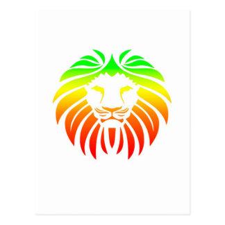 Cabeza del león de Rasta Postales