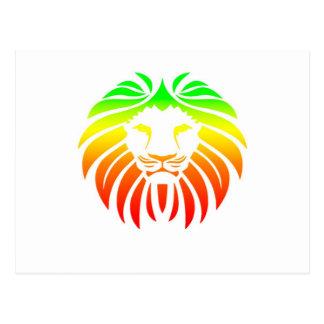 Cabeza del león de Rasta Tarjetas Postales