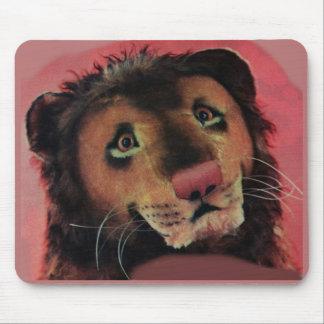 cabeza del león del juguete tapetes de ratón