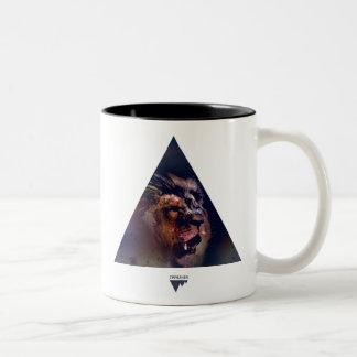 Cabeza del león del triángulo de la galaxia - Tren Taza De Café