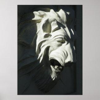 Cabeza del león poster