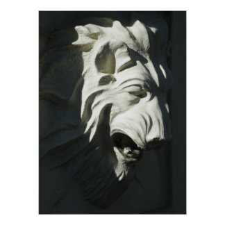 Cabeza del león póster
