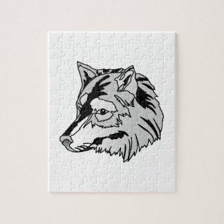 Cabeza del lobo rompecabeza
