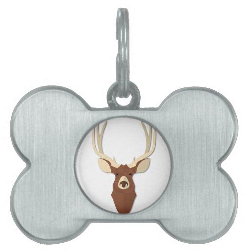 Cabeza del macho de los ciervos del dibujo animado placas mascota