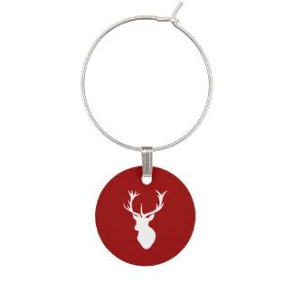 Cabeza del macho de los ciervos del navidad rojo y identificador de copa