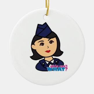 Cabeza del medio de la fuerza aérea adornos de navidad
