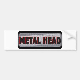 Cabeza del metal etiqueta de parachoque