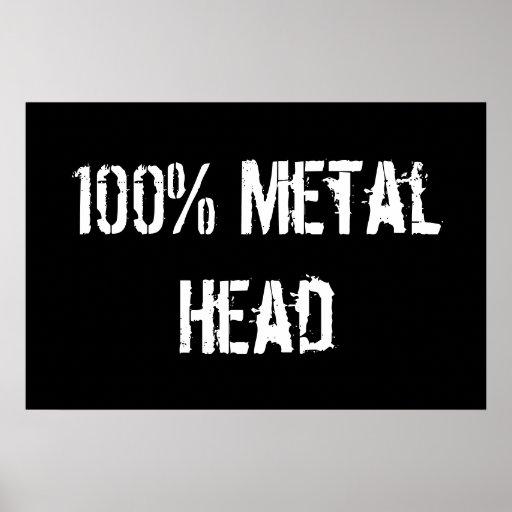 Cabeza del metal del 100% poster