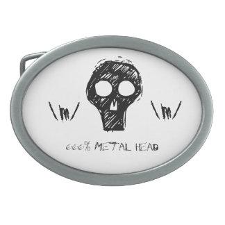 Cabeza del metal hebilla cinturón oval