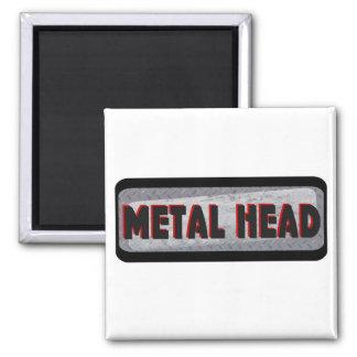Cabeza del metal iman