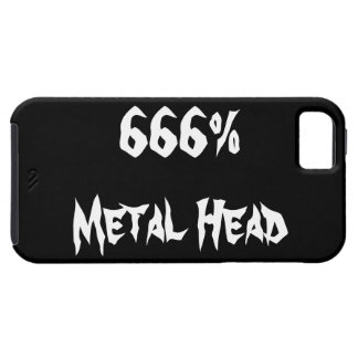 Cabeza del metal iPhone 5 fundas