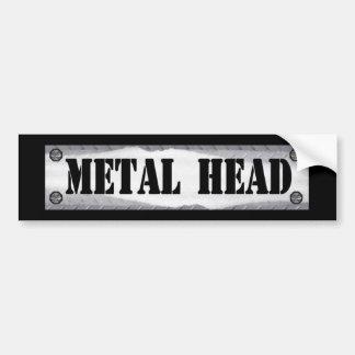 Cabeza del metal pegatina para auto