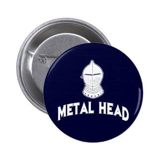 Cabeza del metal pin redondo de 2 pulgadas