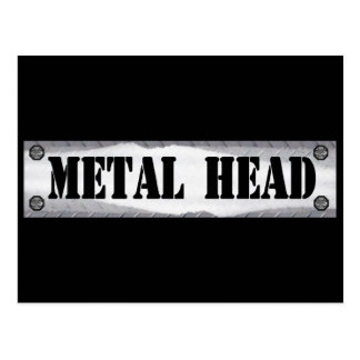 Cabeza del metal postales