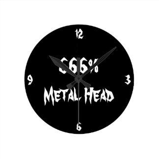 Cabeza del metal reloj redondo mediano